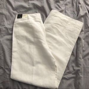 NWT White Wide Leg LOFT Pants
